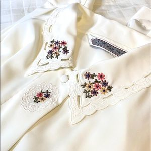 Vintage K.B. Lawrence   Embroidered Blouse